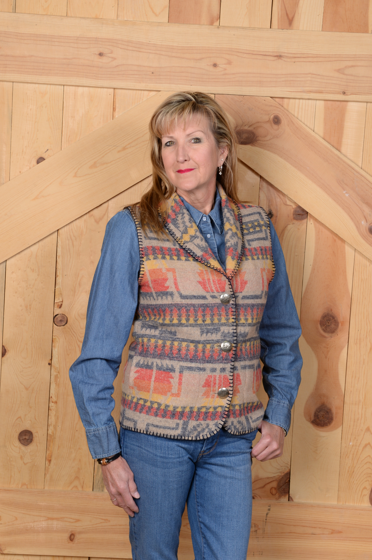 #130IC - INDIAN CHIEF SHAWL VEST - $99.95                    SALE $49.98 -- S-L-2X ONLY!
