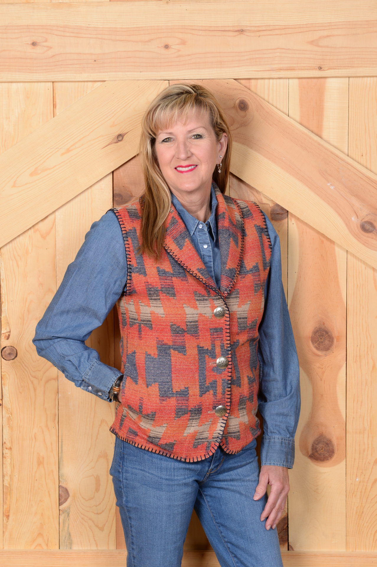 #130TBS - TONTO BIG SKY SHAWL COLLAR VEST -- WAS $99.95 - SALE $49.98 -- SMALL & XL ONLY!