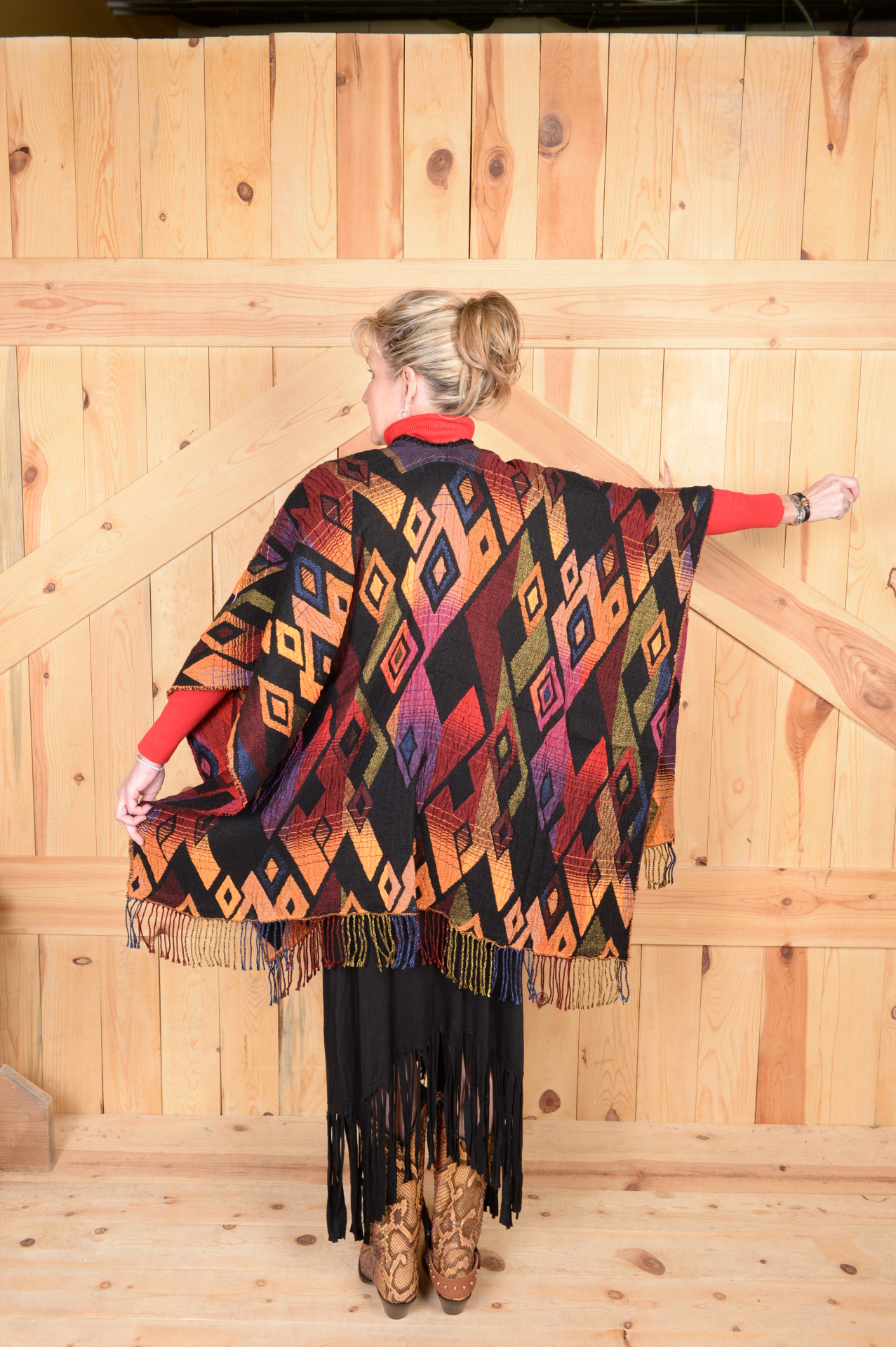 #100DSC - SUNSET DIAMOND ITALIAN CAPE  - ONE SIZE - $169.95