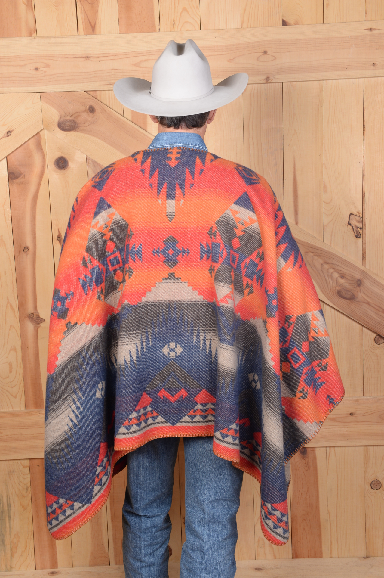 #201TN - TONTO BLANKETSTITCH PONCHO - BACK  - SOLD OUT!