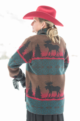 #875ML - MOOSE ON THE LOOSE CAR COAT - BACK