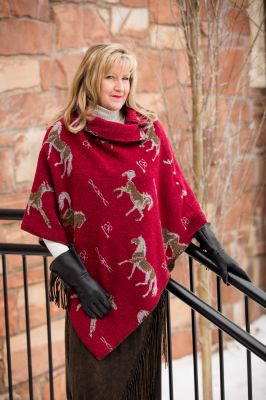 #208HBR - RED HORSE BRANDS BUTTON COLLAR PONCHO - O/S -- $129.95