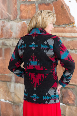 #865DR - DURANGO WRAP COAT - BACK.  SOLD OUT FOR 2019!