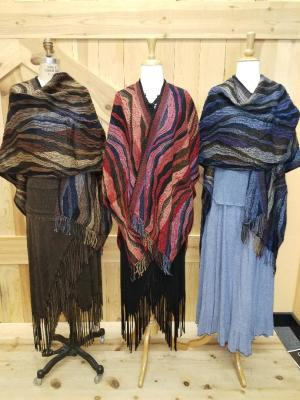 CAPPUCCINO, LPSTICK RED & MIDNIGHT WAVE ITALIAN CAPES - O/S -- $169.95