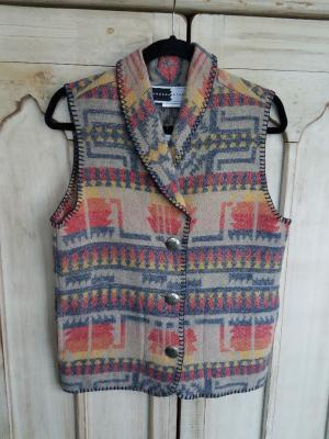 #130IC - INDIAN CHIEF SHAWL COLLAR VEST - WAS $99.95 -- SALE $49.98 -- S & L ONLY!