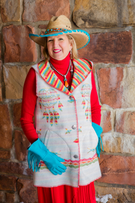 #H160IDW - HOODED WHITE INDIAN DREAMS LONG A-LINE VEST - XS-2X -- $179.95