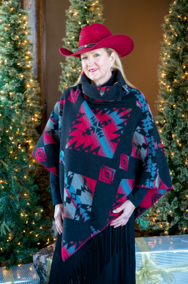 #208DR - DURANGO BUTTON COLLAR PONCHO - SOLD OUT FOR 2019!